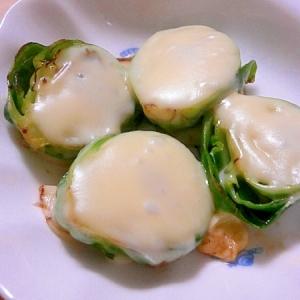 芽キャベツのチーズ焼き