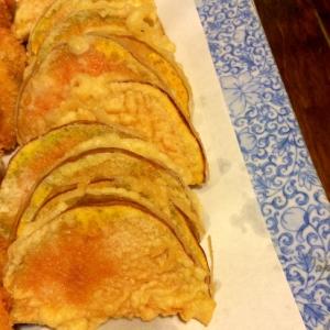 バターナッツかぼちゃの天ぷら