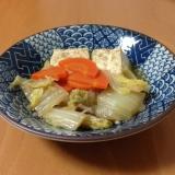 焼き豆腐と白菜の煮物♪