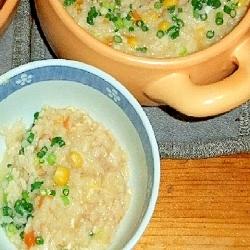 オリーブライスで暖かスープご飯