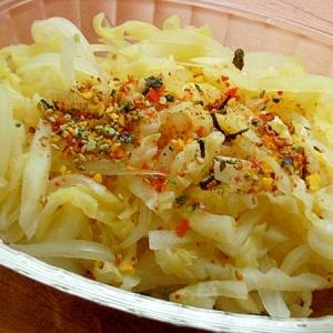 春キャベツ&タマネギの甘酢♪(緑黄色野菜ふりかけ)