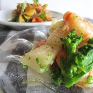 海老と山芋のアーリオ・オーリオ