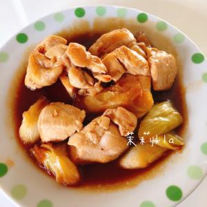 鶏胸肉と長ネギの炒めもの