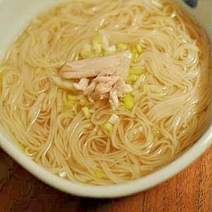 ポカポカ温まる♪鶏しょうが素麺(そーめん)