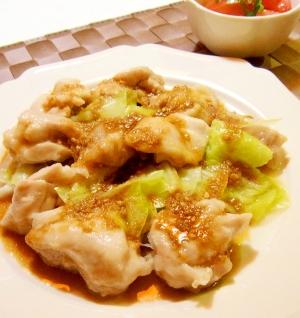 鶏肉ときゃべつのレンジ蒸し 中華ソース