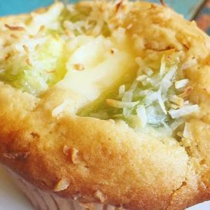 HMで簡単☆レアチーズとレモンのココナッツマフィン