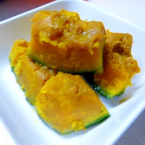 暑い日はレンジ煮物、かぼちゃ編