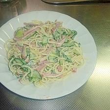 大葉のスパサラダ