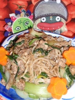 ミ・ゴレン(=インドネシアの焼そば)風焼き素麺