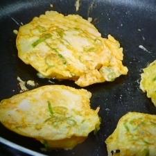 牡蠣の卵つけ焼き