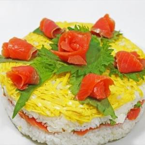 お寿司のデコレーションケーキ★お祝いやパーティに!