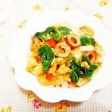小松菜と人参の卵どんぶり
