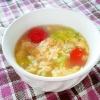 プチトマトとレタスのかき玉スープ
