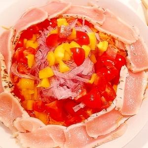 鶏のたたきとカラフル野菜の韓国風サラダ