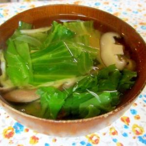 レタスと椎茸の和風スープ