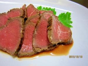 ずぼら飯(~_~;) 炊飯器でローストビーフ