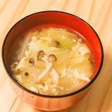あつあつトロトロ♡白菜のかき玉中華スープ