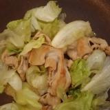 豚肉とレタスの塩バター炒め(^^)