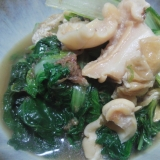 しんとり菜とばい貝の煮びたし
