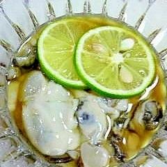 スダチで作る酢牡蠣♪