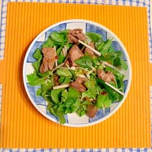 鶏肝とセロリのサラダ♪