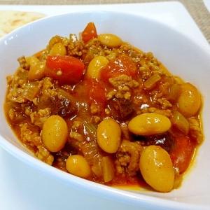 大豆とトマトのドライカレー