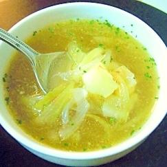 ジャガイモ、オニオンのコンソメスープ