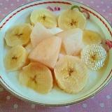 梨とバナナのヨーグルト♪