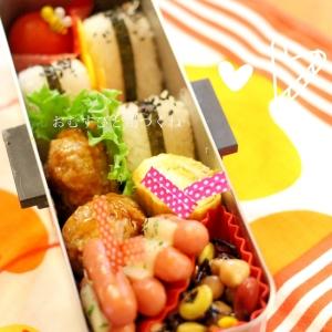 JK弁当☆ おむすびと鶏つくね