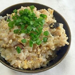 十六穀米のたまごがゆ