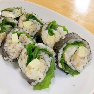 チーズと大葉の巻き寿司