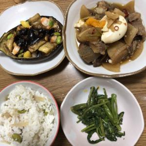 新生姜とミョウガの炊き込みご飯