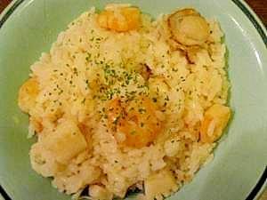 """*""""炊飯器で簡単シーフードピラフ❤海鮮炊き込みご飯"""