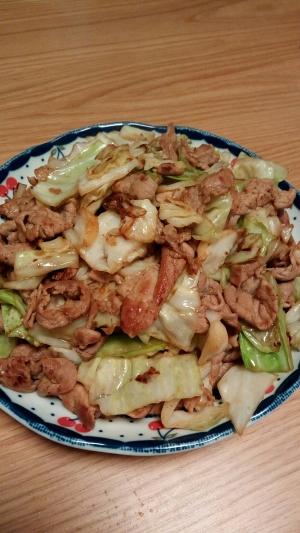 簡単中華!豚肉とキャベツのオイスターソース炒め