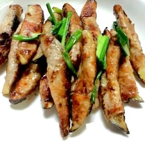肉の旨味で箸がススム☆なすの肉巻き