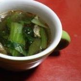 チンゲン菜と春雨の中華スープ
