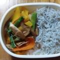 水菜のカラフルサラダ