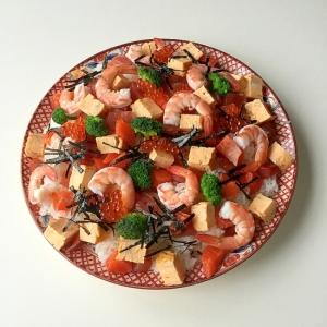 全部角切りで簡単豪華海鮮ちらし寿司