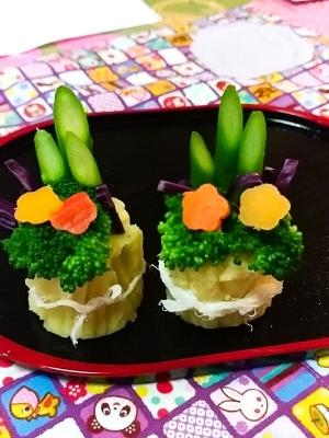 野菜で門松!