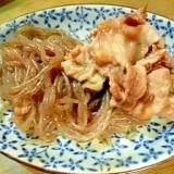 豚肉と糸こんにゃくの煮物