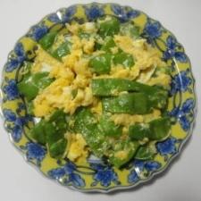 モロッコいんげんの卵とじ