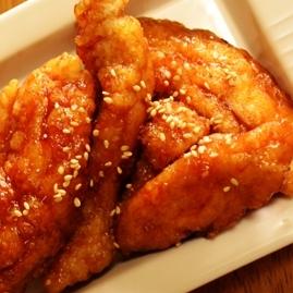 鶏むね肉でもおいしい、鶏のから揚げ甘辛だれ