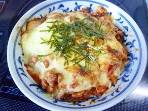 ☆とろ~り卵のキムチ納豆チーズドリア☆