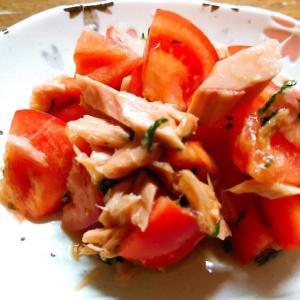 トマトとツナのポン酢醤油和え