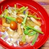 山菜水煮と葱☆すまし汁