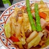 簡単★タップリ野菜のトッポギナポリタン