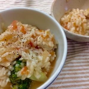 【取分け】鶏とブロッコリーのトマトリゾット