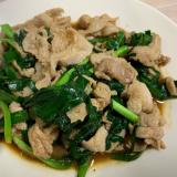 ニラと豚肉の炒めもの 焼肉のタレ風味