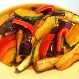 カラフル夏野菜!☆麺つゆ煮浸し