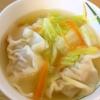冷凍ぎょうざと白菜の中華スープ